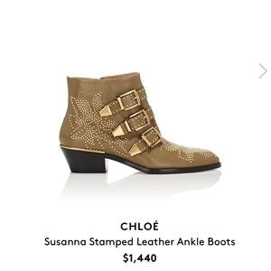 [chloe] Suzanna studded boot in love 100% auth